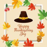 lycklig tacksägelsedagskort