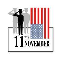 Veteranentagsfeier und Flagge