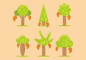 Mango träd vektor uppsättning