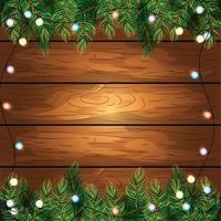 trä bakgrund med ljus