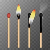 Match-Brennvorgang vektor