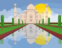 Taj Mahal Indien vektor