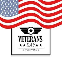Veteranentagsbanner mit Flagge der Vereinigten Staaten