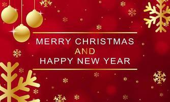 jul och nyårsdesign med gyllene element vektor