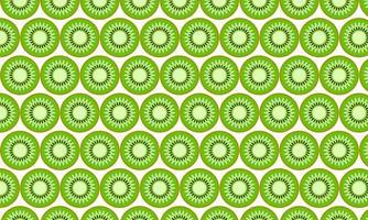 grünes Kiwischnittmuster vektor