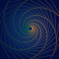 abstrakt grön orange lutning radiell på blått vektor
