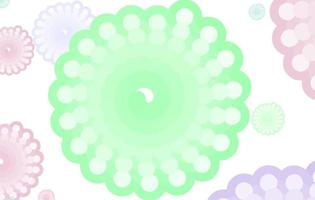 pastell abstrakt rundad fraktal mönster vektor
