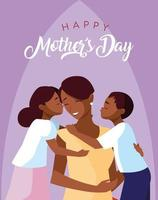 glückliche Muttertagskarte