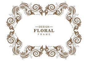 dekorativ blommig ram vektor