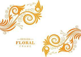 orange blommig bakgrund vektor