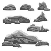 uppsättning av olika stenar vektor