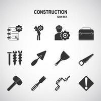Arbeits- und Konstruktionssymbolsatz vektor
