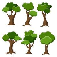 Baumset isoliert