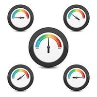 Benchmarking-Uhr isoliert vektor
