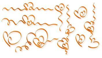 goldene Herzen aus Band