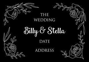Bröllopskort vektor