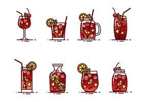 Sangria trinken Vektor