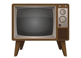 vintage gammal tv vektor