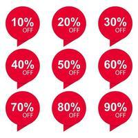 specialförsäljningsrabattklistermärke vektor