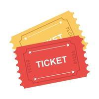 Ticketset isoliert auf weißem Hintergrund