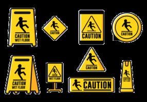 Vektor tecken försiktighet våt foor