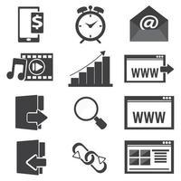 webbplats ikonuppsättning vektor