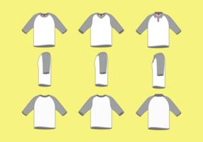 Mäns raglan t-shirt vektor