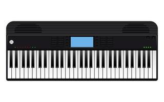 elektroniskt piano isolerad på vit bakgrund vektor