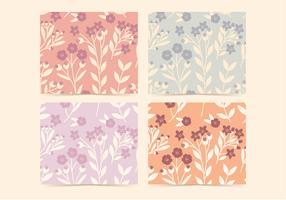 Vector Blumen Hagebutten Muster