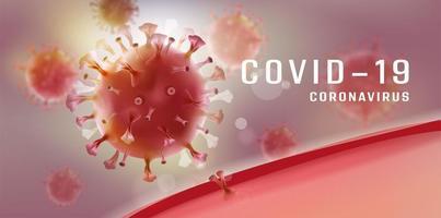 rotes Coronavirus-Covid-19-Zell-Design