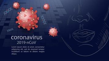 coronavirus företags banner mall