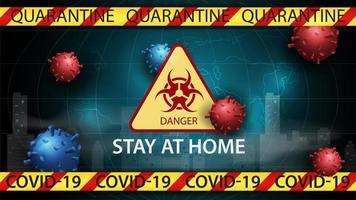 Coronavirus Gefahr Banner Vorlage vektor