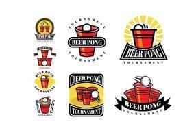 Öl Pong Patches och Logos vektor