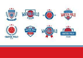 Wasser Polo Logo Vektor