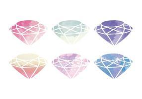 Vektor vattenfärg diamant