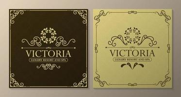 Vorlagen für Luxushoteletiketten vektor