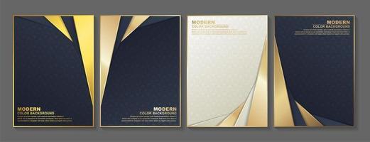 geometriskt mönster och vinklade guldlager täcker