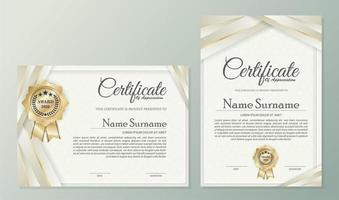 professionelle Zertifikatvorlage mit geschichtetem Farbband vektor