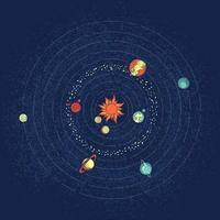 Design des Sonnensystems vektor