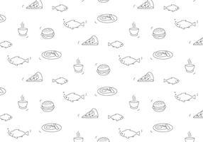 Essen Vektor Muster