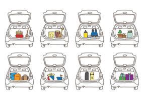 Auto Boot Illustrationen