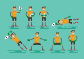 Mål Keeper Action Vector illustration