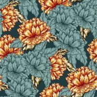 sömlöst grafiskt blommönster