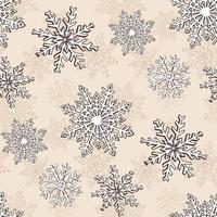 nahtloses Muster der Schneeflocke Weihnachten vektor