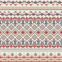 Geometrie Tribal Pixel Muster vektor