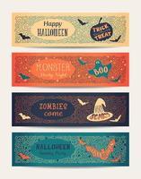 halloween fest banners vektor