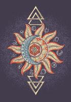 Alchemie magisches Zeichenplakat vektor