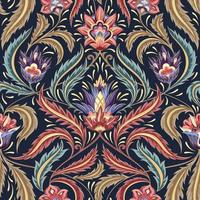 färgglada viktorianska blommönster dekorativa vektor