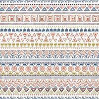 Handgezeichnetes nahtloses Muster des ethnischen Stammes