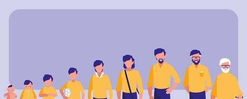 Gruppe von Familienmitgliedern Avatar Charakter